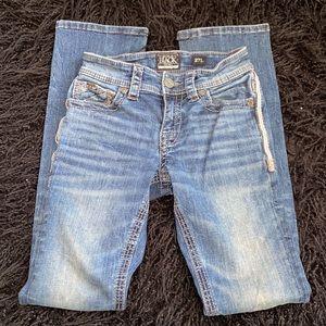 BKE Buckle Black Fit No 3 Bootleg denim jeans 27 Long bootcut